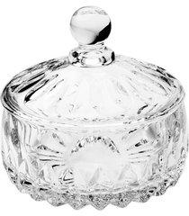 vaso potiche cristal wolff 14x14cm louise transparente