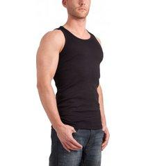 garage singlet semi bodyfit black ( art 0401)