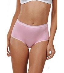 calcinha calça nova clássica demillus rosa