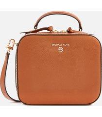 michael michael kors women's jet set charm medium cross body bag - luggage