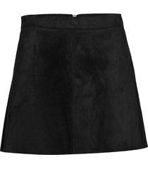 onllinea faux suede bonded skirt cc otw kort kjol svart only