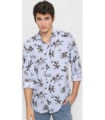 camisa celeste new astor slim fit fibrana