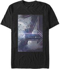 marvel men's avengers endgame distorted movie poster short sleeve t-shirt