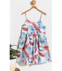 anele palm leaves dress - multi