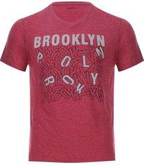 camiseta hombre brooklyn color rojo, talla s
