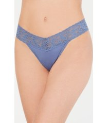 hanky panky organic cotton original-rise lace-waist thong 891801