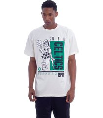 camiseta nba boston celtics off white - cinza/off-white - masculino - dafiti