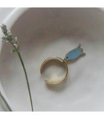 pierścionek z kwiatem