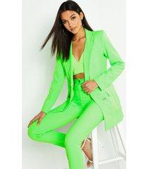 tall neon tailored blazer, neon-green