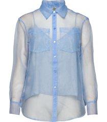 minty blouse lange mouwen blauw baum und pferdgarten
