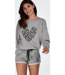 hunkemöller shorts sweat grå