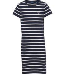 d1. tg breton striped jersey dress jurk blauw gant