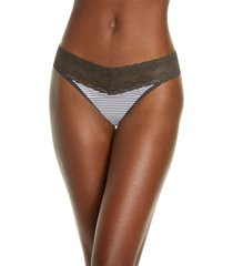 natori bliss perfection thong in licorice stripe print at nordstrom