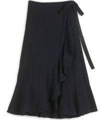 lucky brand kira wrap midi skirt