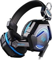 audífono diadema gamer gs210 3.5mm led negro