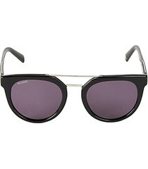 51mm round browline sunglasses