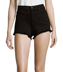 7 for all mankind women's high rise cut off shorts - black - size 25 (2)