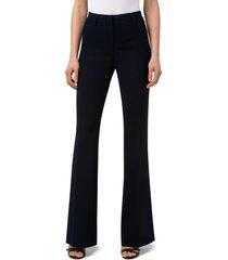 women's akris bootcut wool pants, size 10 - blue