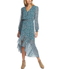 1.state printed asymmetrical midi dress