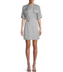 equipment women's absalone geometric shirtdress - sky grey - size 0
