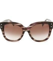 alexander mcqueen women's 58mm square core sunglasses - havana