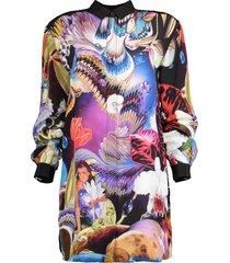 fantasy print goya shirt dress