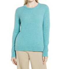 women's nordstrom cashmere sweater, size xx-large - blue/green