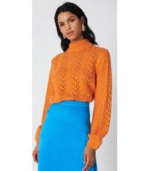 na-kd knitwear sweater - orange