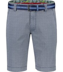 meyer shorts palma blauw print met riem