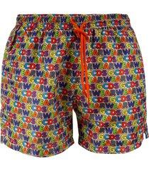 gcds logo all-over drawstring shorts