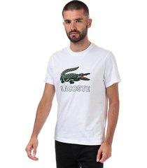 mens big croc printed logo t-shirt