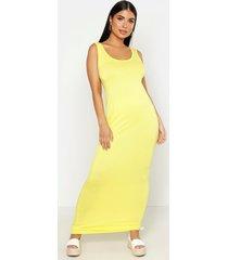 petite sandy scoop neck maxi dress, yellow