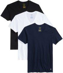 polo ralph lauren men's 3-pk. cotton classic v-neck t-shirts
