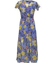 eloise crinkle midi dress maxiklänning festklänning blå french connection