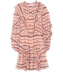 aberdeen dress in blush tie dye