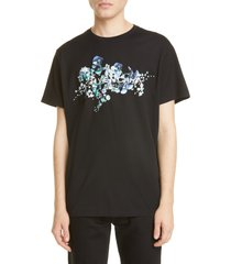 men's givenchy flowers logo graphic tee
