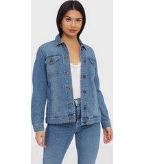 noisy may nmole l/s med blue denim jacket noo jeansjackor