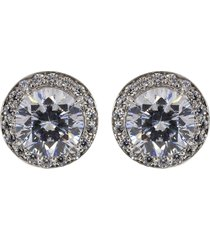 cubic zirconia round pave earrings