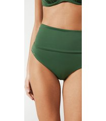 calzedonia indonesia fold over bikini bottoms woman green size 4