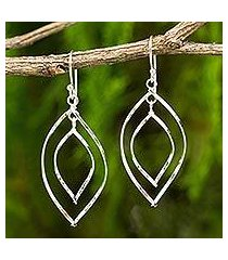 sterling silver dangle earrings, 'eyes on you' (thailand)