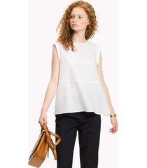 blusa regular hayley blanco tommy hilfiger