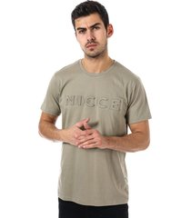 nicce mens embossed t-shirt size xl in green