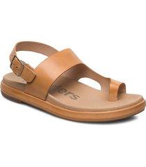 b-7404-f shoes summer shoes flat sandals beige wonders
