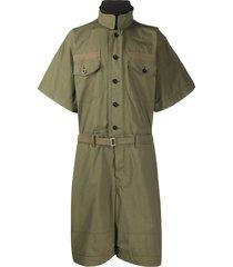 sacai oversized utility jumpsuit - green