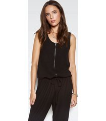 royal pant romper - l jet black