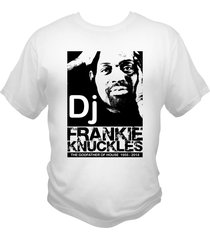 dj frankie knuckles white t-shirt