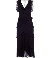 long frilled dress