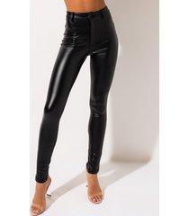 akira te quiero high rise vegan leather skinny pants