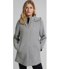 chaqueta mujer con capucha gris esprit