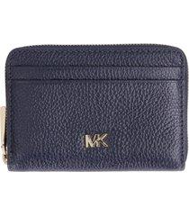michael michael kors money pieces pebbled leather wallet